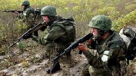 Một tiểu đoàn đổ bộ-tấn công của Nga trong cuộc tập trận Vostok-2014. Ảnh: TASS
