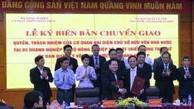 Bộ NN-PTNT chuyển giao 5 doanh nghiệp lớn cho Ủy ban Quản lý vốn nhà nước