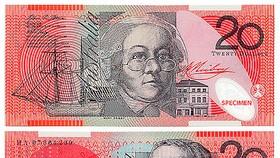 Australia công bố mẫu tiền 20AUD mới