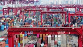 Hàng hóa Trung Quốc tại cảng Thanh Đảo, tỉnh Sơn Đông chuẩn bị xuất khẩu sang  Mỹ