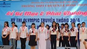 Hơn 4.800 học sinh THCS tham gia kỳ thi Olympic Tháng 4
