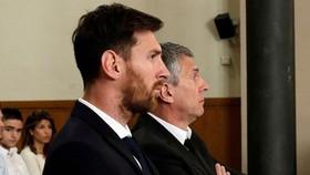 Messi tại phiên tòa năm 2016.