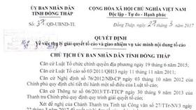 Vụ lộ thông tin người tố cáo: Chủ tịch UBND tỉnh Đồng Tháp nhận sai