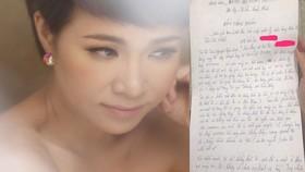 Ca sĩ Uyên Linh và Bản tường trình bị mất trộm.  
