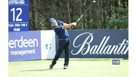 Golfer Nguyễn Văn Thống thi đấu tại giải Pro-Ams Scottish Open 2017. Ảnh: TẠ HOÀNG NGUYÊN