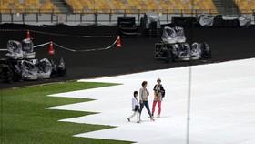 BTC SEA Games 29 diễn tập buổi khai mạc vào chiều qua. Ảnh: Dũng Phương