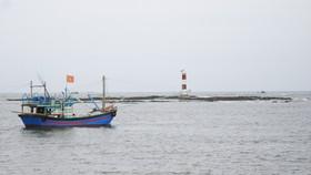 Kêu gọi tàu thuyền về nơi trú bão an toàn. Ảnh: Nguyễn Trang
