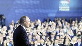 Tổng thống Putin phát biểu tại đại hội đảng Nước Nga thống nhất