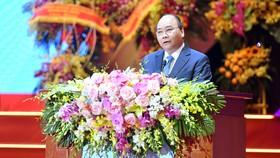Thủ tướng Nguyễn Xuân Phúc phát biểu tại buổi lễ kỷ niệm. Ảnh: VGP