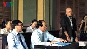 Ông Đặng Lê Nguyên Vũ tại phiên tòa. Ảnh: VOV