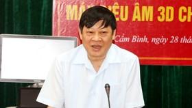 Thứ trưởng Bộ Y tế Nguyễn Viết Tiến phát biểu tại buổi lễ trao tặng. Ảnh: Báo Hà Tĩnh