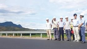 Nhà thầu đã hoàn thành công tác sửa chữa mặt đường tại  Km 21+140