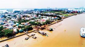"""Đê kè, cống nhỏ Cầu Kinh, Bà Bướm (quận 7) thuộc dự án """"Giải quyết ngập do triều khu vực TPHCM có xét đến yếu tố biến đổi khí hậu - Giai đoạn 1"""""""