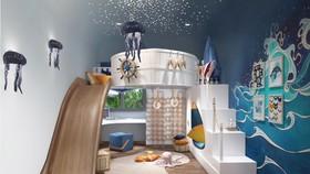 Linh động thiết kế phòng thành phòng vui chơi cho con thỏa sức sáng tạo