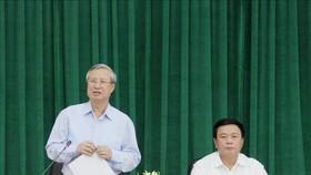 Đồng chí Trần Quốc Vượng phát biểu kết luận buổi làm việc. Ảnh: TTXVN