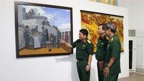 """Tác phẩm """"Bảo đảm khí tài"""" – Sơn dầu của họa sỹ Nguyễn Phú Hậu. Ảnh: QK7 Online"""