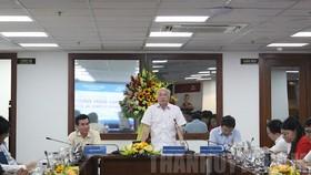 Đồng chí Phan Nguyễn Như Khuê phát biểu tại buổi họp báo. Ảnh: hcmcpv