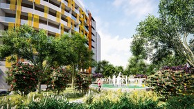 Một góc của dự án Bạc Liêu Riverside Commercial Zone