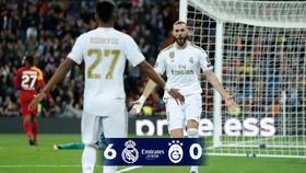 Rodrygo (số 27) và Karim Benzema đóng góp đến 5 bàn thắng trong chiến thắng của Real Madrid trước Galatasaray