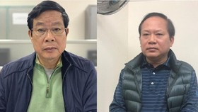 Bị cáo Nguyễn Bắc Son và Trương Minh Tuấn tại cơ quan điều tra. Ảnh: Bộ Công an