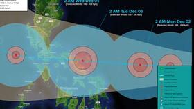 Cơn bão Kammuri đã đổ bộ vào Philippines. Ảnh:WeatherPH.org