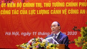 Thủ tướng Nguyễn Xuân Phúc phát biểu tại buổi làm việc. Ảnh: VGP