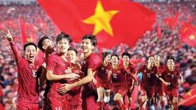 Hai đội tuyển bóng đá nam và nữ đều đoạt Huy chương vàng tại SEA Games 30. Ảnh: DŨNG PHƯƠNG - Đồ họa: HỮU VI
