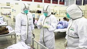 Trong một bệnh viện tại Vũ Hán, Trung Quốc