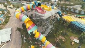 Công viên nước Thanh Hà tại khu đô thị Thanh Hà bị cưỡng chế phá dỡ vì xây dựng không phép. Ảnh Trần Cường - Báo Thanh Niên