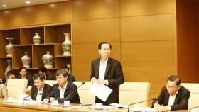 Phó Chủ tịch UBND TPHCM Lê Thanh Liêm phát biểu tại cuộc họp. Ảnh: VGP/Đình Nam