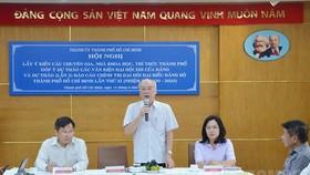 Trưởng Ban Tuyên giáo Thành ủy TPHCM Phan Nguyễn Như Khuê phát biểu tại hội nghị. Ảnh: hcmcpv