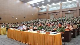 Quang cảnh buổi hội nghi sơ kết 6 tháng đầu năm 2020 tại trụ sở Công an TPHCM