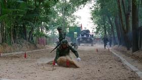 Tập huấn, huấn luyện để tham gia các nội dung thi tại Hội thao Quân sự quốc tế Army Games-2020. Ảnh: QĐND