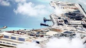 Hình ảnh từ vệ tinh cho thấy Trung Quốc đã quân sự hóa một phần Biển Đông. Ảnh: Inquier