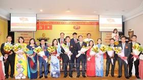 Ban Chấp hành Đảng bộ TCT VHSG nhiệm kỳ 2020 - 2025 ra mắt Đại hội. Ảnh: Quốc Thanh/hcmcpv