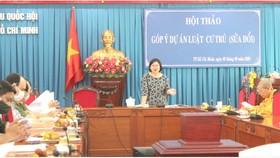 Hội thảo góp ý Luật Cư trú (sửa đổi) do Đoàn ĐBQH TPHCM tổ chức ngày 9-9
