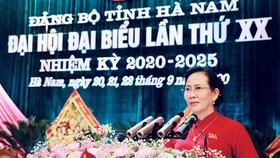 Đồng chí Lê Thị Thủy tái đắc cử Bí thư Tỉnh ủy Hà Nam. Ảnh: Báo Thanh Tra
