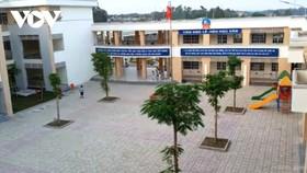 Trường tiểu học Thái Hòa B nơi em T.G.N đang theo học. Ảnh: VOV