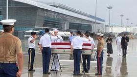 Bàn giao hài cốt quân nhân Hoa Kỳ