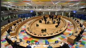 Toàn cảnh Hội nghị thượng đỉnh đặc biệt Liên minh châu Âu (EU) tại Brussels, Bỉ ngày 1-10-2020. Ảnh: AFP/TTXVN