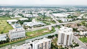 Khu dân cư phường Tân Phú và phường Tăng Nhơn Phú A, giáp với Khu công nghệ cao TPHCM. Ảnh: HOÀNG HÙNG