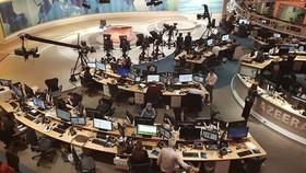 Trụ sở hãng Al Jazeera. Ảnh: AP