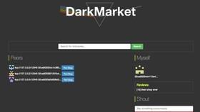 Giao diện trang DarkMarket