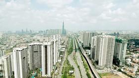 Các chung cư mới dọc tuyến metro Bến Thành - Suối Tiên. Ảnh: CAO THĂNG