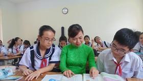 Giờ học môn tiếng Anh của học sinh Trường THCS Lê Văn Tám (quận Bình Thạnh)