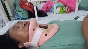 Chị Thanh bị gãy cột sống cổ