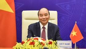 Chủ tịch nước Nguyễn Xuân Phúc dự Phiên khai mạc Hội nghị thượng đỉnh về Khí hậu. Ảnh: VGP