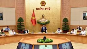 Chính phủ họp triển khai công việc sau khi kiện toàn. Ảnh: VGP