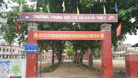 Ngôi trường mà em Lương Mạnh Tuấn theo học. Ảnh: NTV