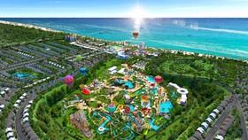Phối cảnh tổ hợp du lịch nghỉ dưỡng giải trí NovaWorld Phan Thiet (Tiến Thành, Bình Thuận) quy mô 1.000 ha của Novaland. Ảnh: Novaland